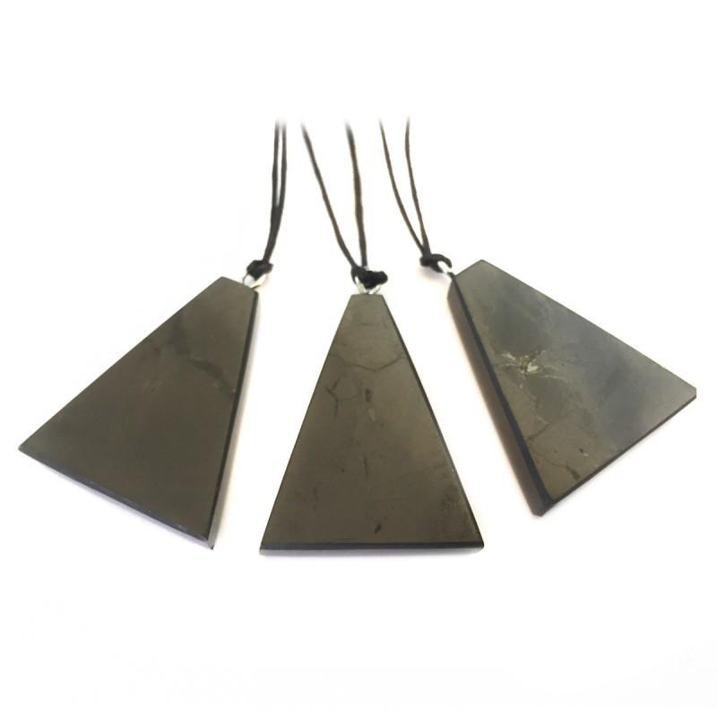 Shungite Necklace - Triangle